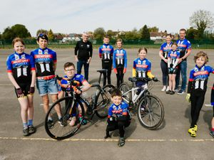 Pictured are Newport Cycling Club members