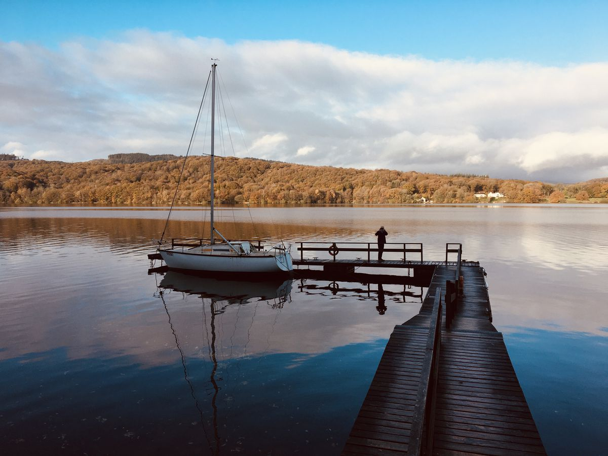 A magical morning on the lake shore with the hotel's own jetty