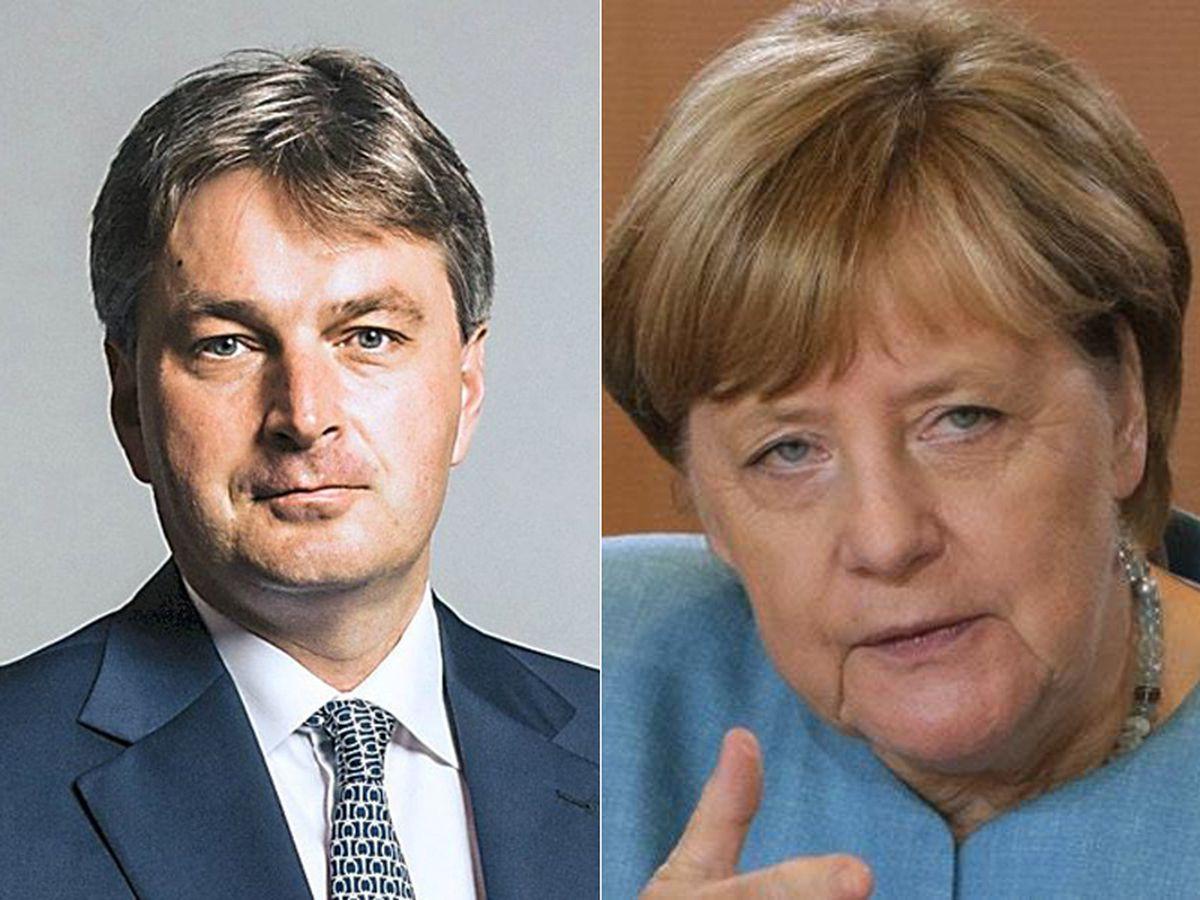 Daniel Kawczynski and Angela Merkel