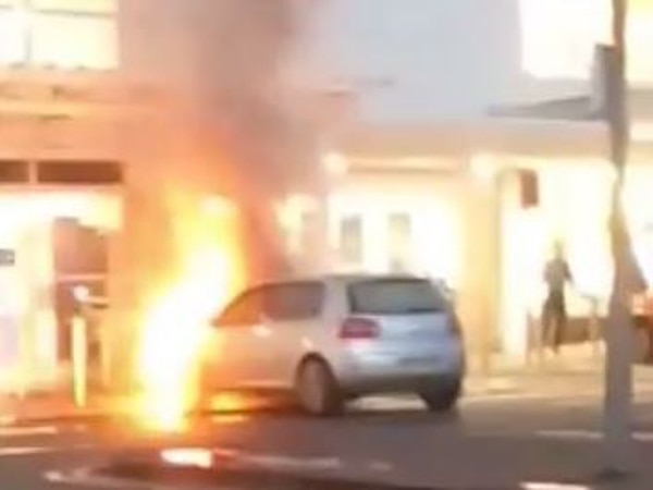 Car engulfed in flames at Telford retail park - with video