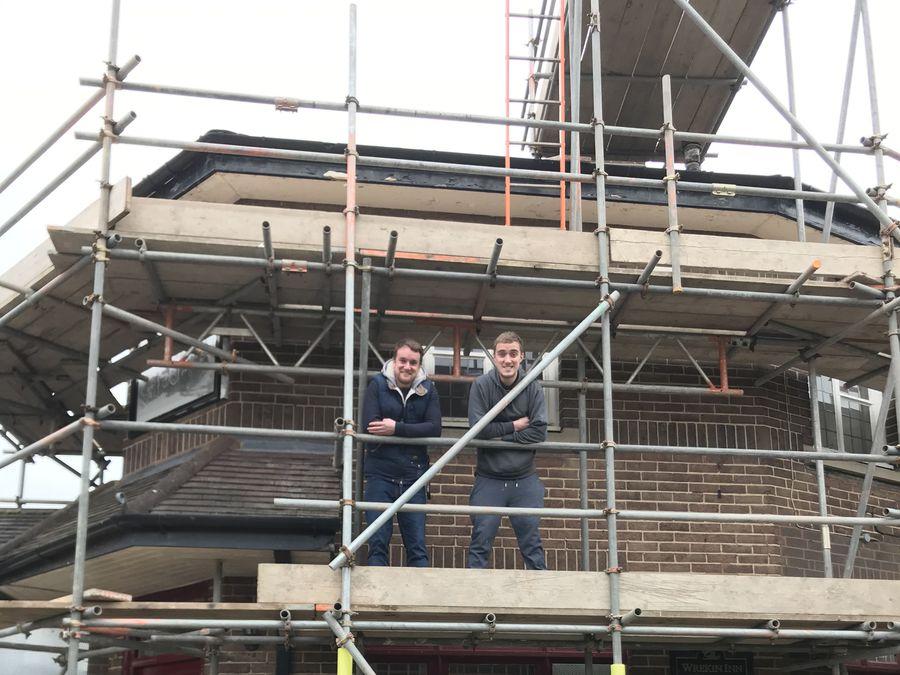 Big plans... Steve Preston, left, and Peter Preston, of Rowton Brewery, at the Wrekin Inn.
