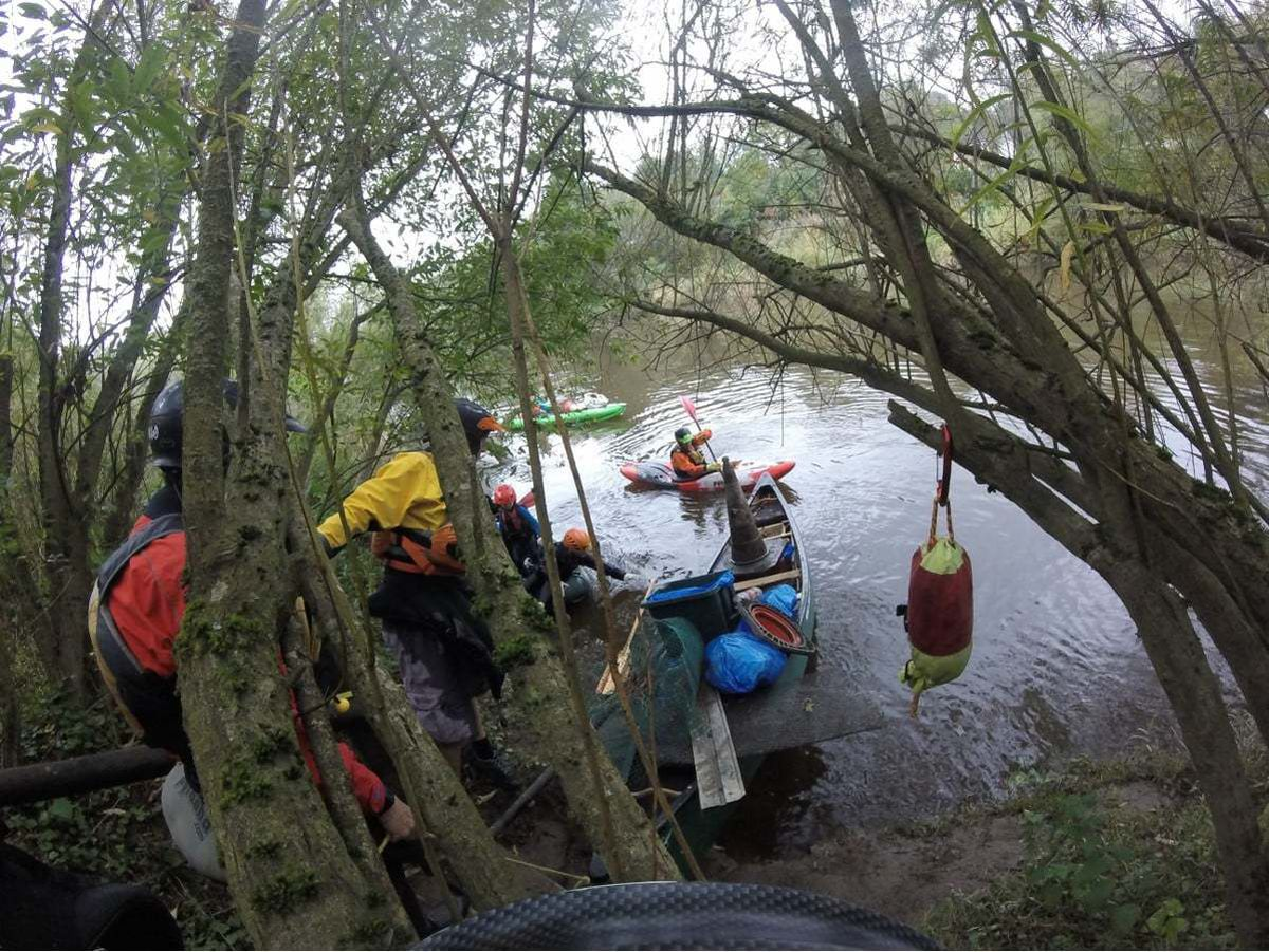 The club had 12 volunteers pulling waste out of the river