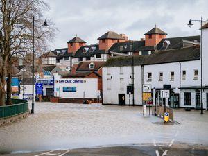 .SHREWS COPYRIGHT SHROPSHIRE STAR JAMIE RICKETTS 24/02/2020 - Flooding in Shrewsbury - Smithfield Road, Shrewsbury...
