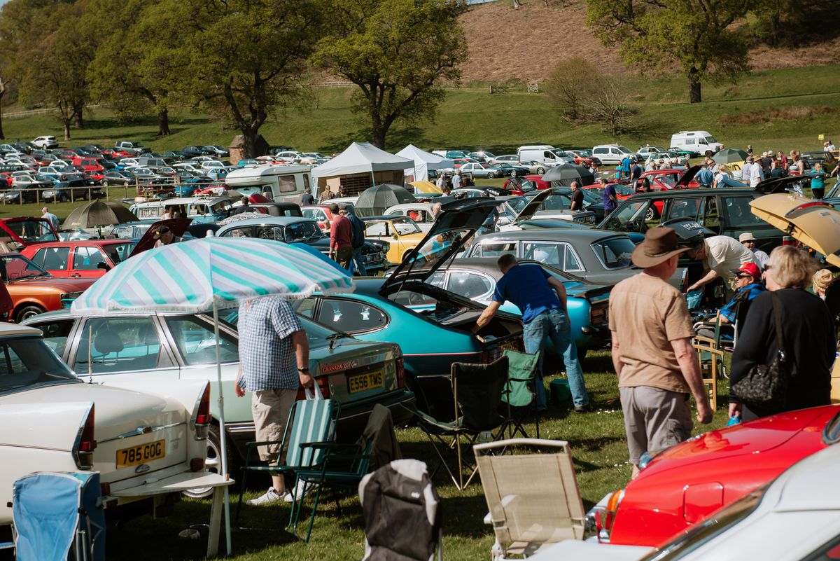 Classic Car Motor Show at Chetwynd Deer Park in Newport