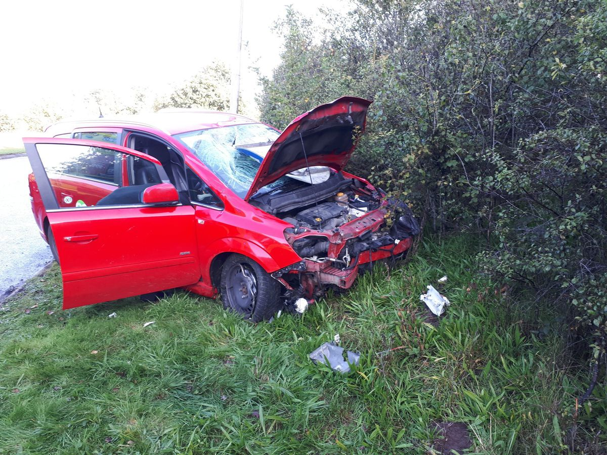The driver and passenger had a lucky escape. Photo: Telford Cops