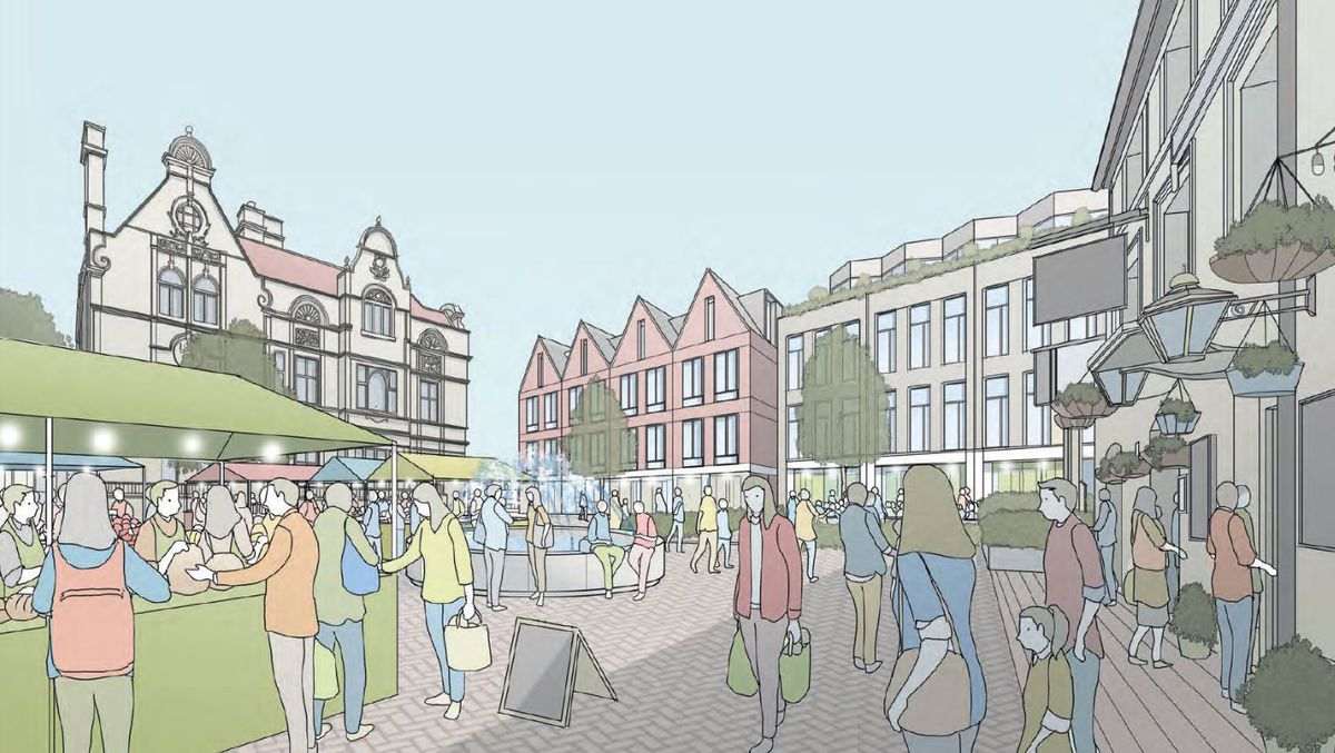 An artist's impression of part of the Bailey Head in Oswestry