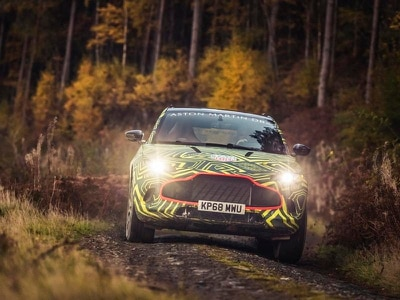 New Aston Martin DBX put through its paces on rally stage