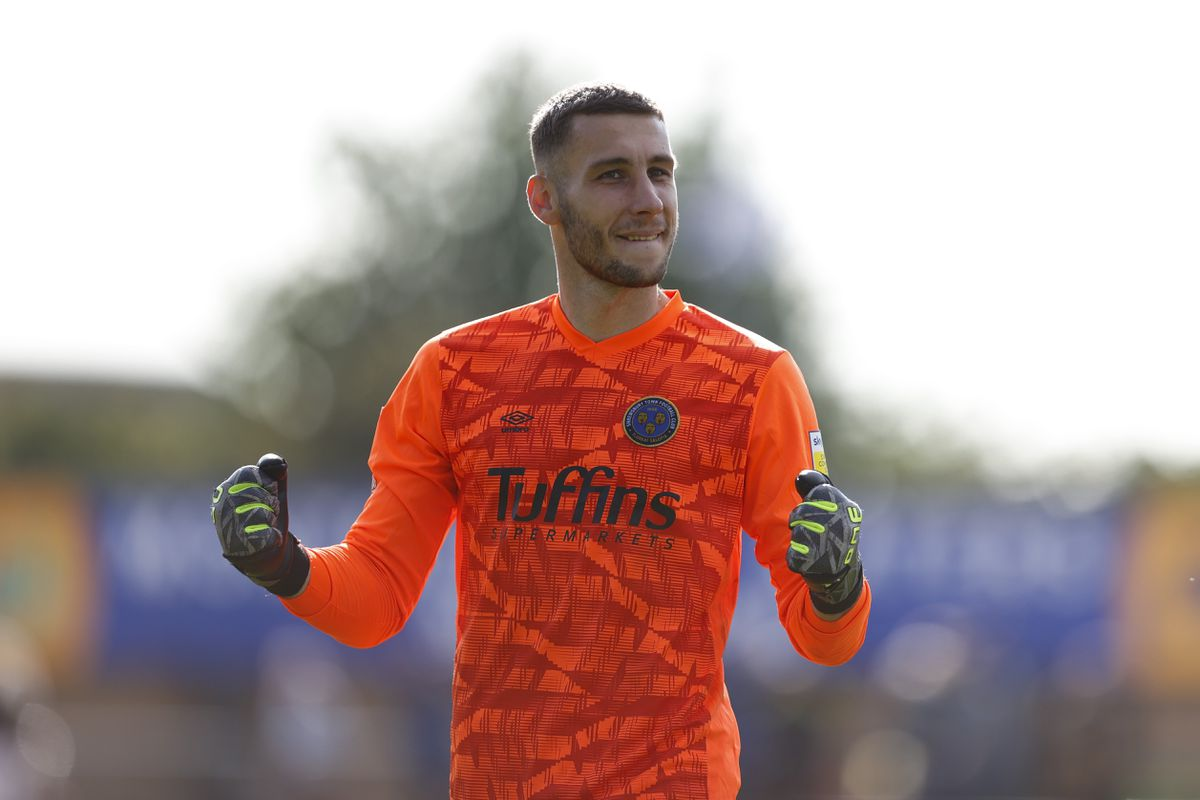 Marko Marosi of Shrewsbury Town celebrates winning the game at full time (AMA)
