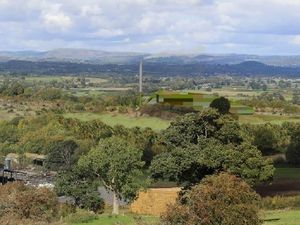 Buttington Incinerator - how the facility could look as part of the Severn valley landscape near Welshpool