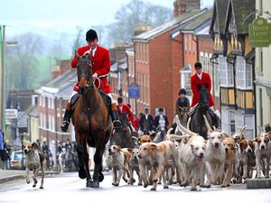 The Ludlow Hunt Boxing Day at Ludlow Castle in 2015
