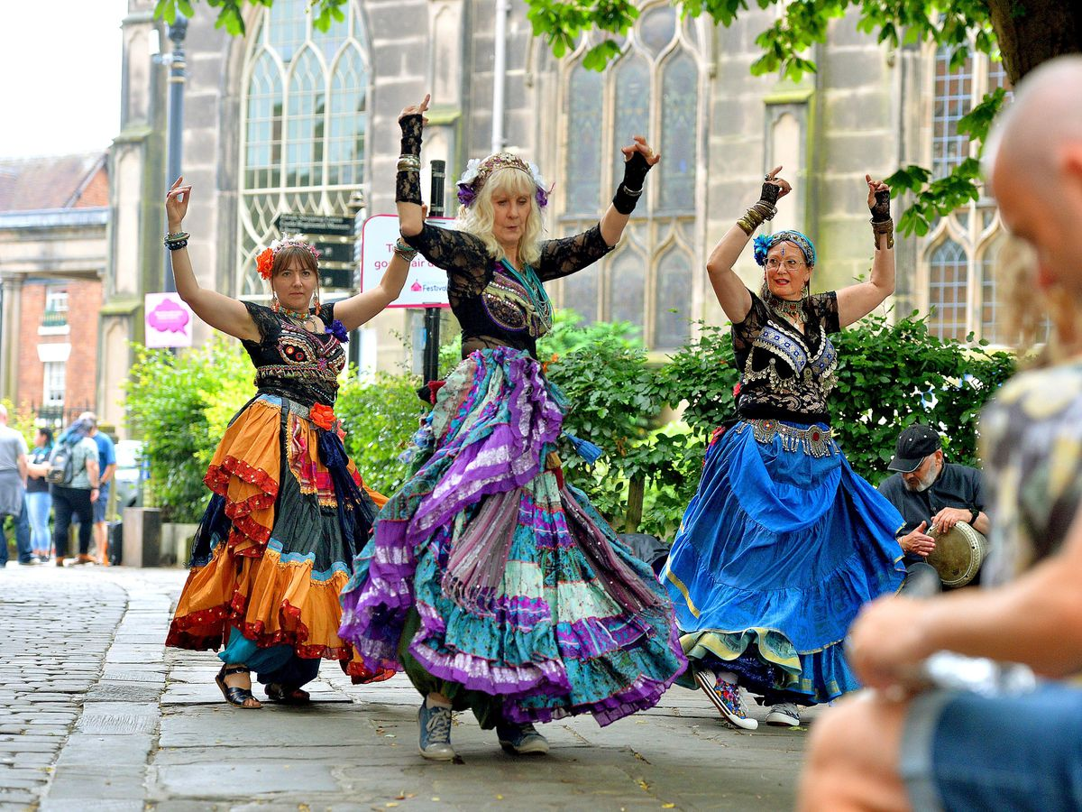 Silver Lotus Tribal put on a colourful show of dancing as part of the Mile of Smiles event held in Shrewsbury