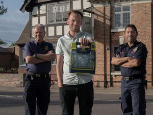 From left, Derek Mattinson (Albrighton & Cosford CFR), Lee Maddox (The Crown) and Dave Fitton (Albrighton & Cosford CFR)