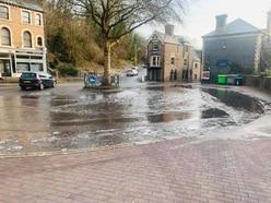 Water leak in Ironbridge turns to ice and slush
