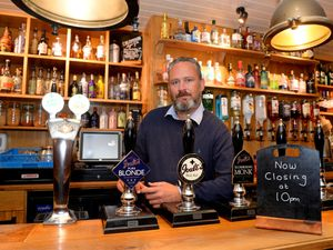 Darren Wood at the New Inn, Newport. He has criticised the Government's rules.