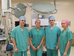 Youngsters scrub up well at Shropshire hospital academy