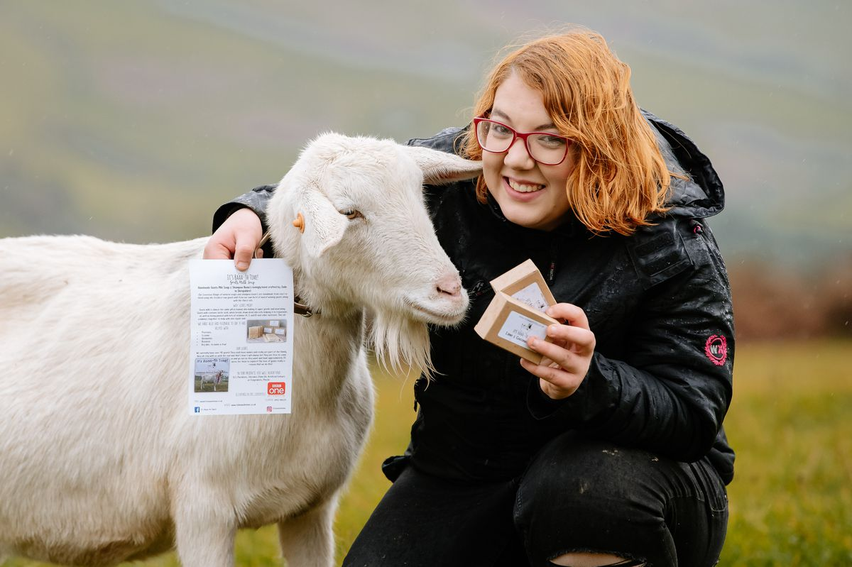 Farmer Jade Rhodes has been bombarded with orders for her goat milk soap after appearing on Countryfile