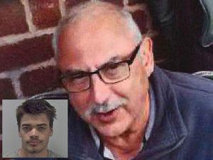 Murder victim Richard Hall and, inset, killer Moses Christensen