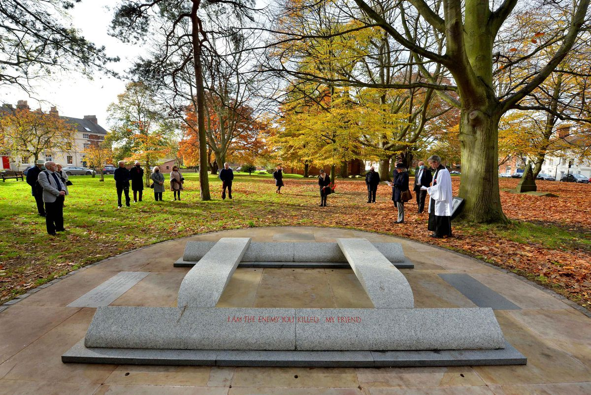 The ceremony was held on the 102nd anniversary of Wilfred Owen's death.