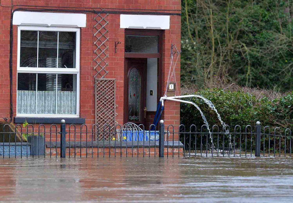 Flooding in Bridgnorth on Tuesday