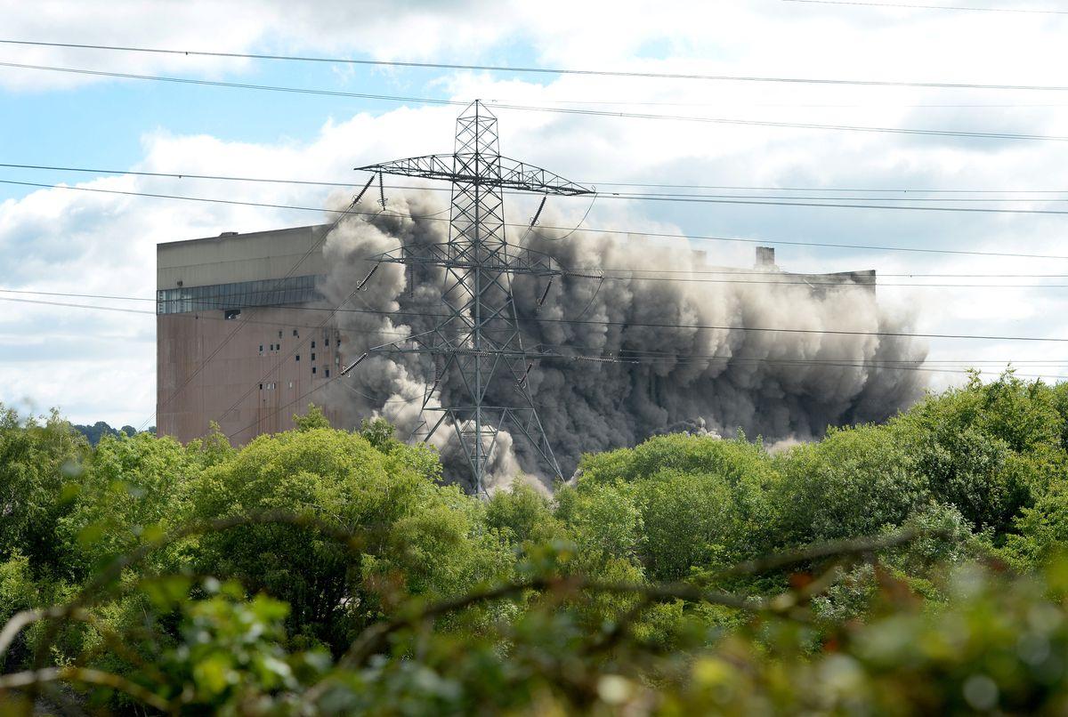 Previous demolition work saw the Bunker Bay demolished at Ironbridge Power Station.
