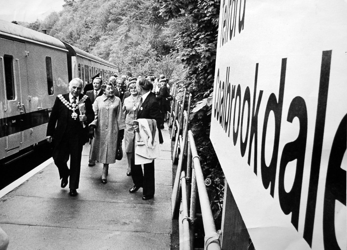 Trains return to the Ironbridge Gorge in 1979, with this arrival at Coalbrookdale from Birmingham.
