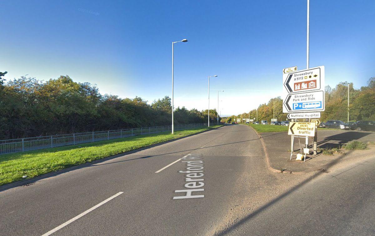Hereford Road, Meole Brace. Pic: Google