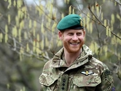 Duke of Sussex hands green berets to newly-qualified marines