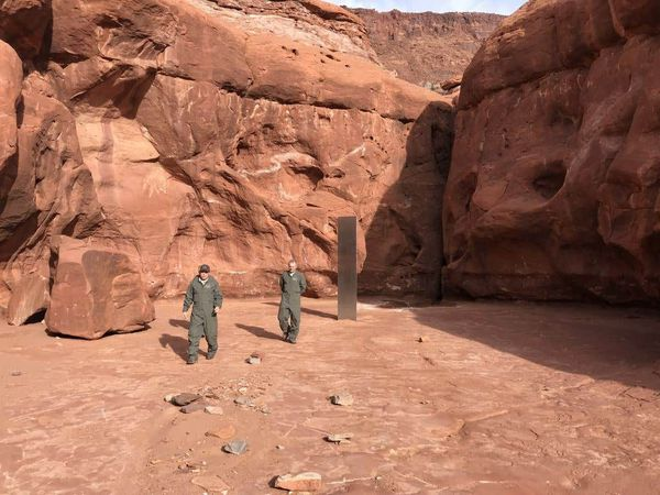 A monolith discovered in Utah