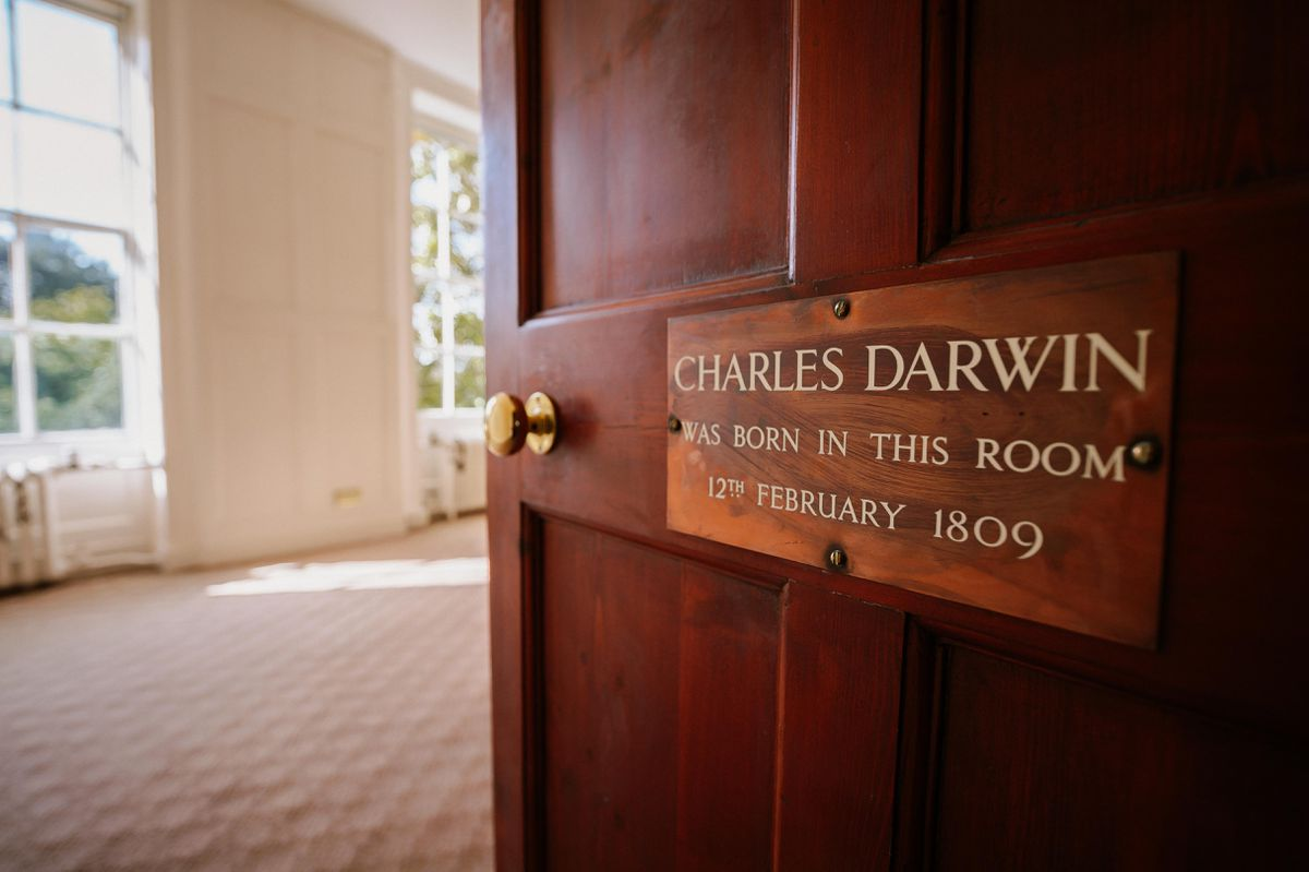 A plaque to mark the birth of Darwin