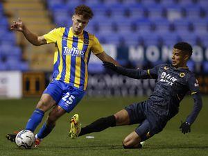 Callum Wilson of Shrewsbury Town and Chem Campbell of Wolverhampton Wanderers U21s. (AMA)