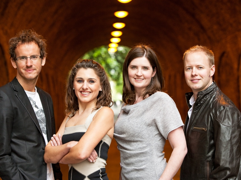 Quartet thrills audience in the church pews
