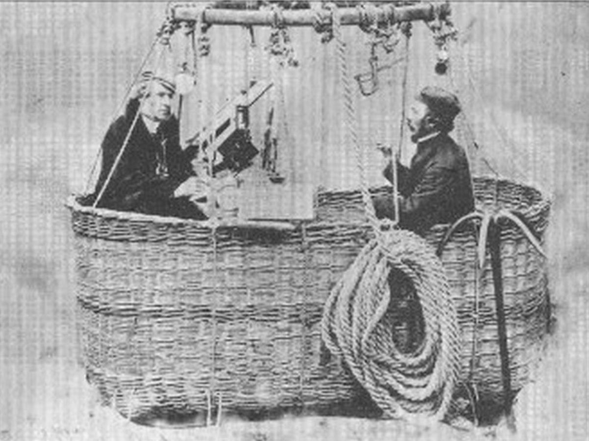 Henry Coxwell and James Glaisher during their balloon flight