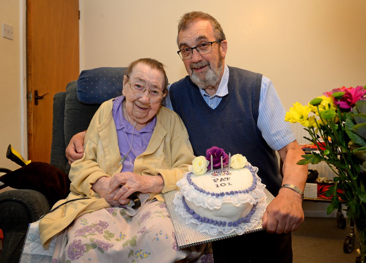 Pat Waites of Newport celebrates her 101st birthday, on the same day as her son Paul's 70th