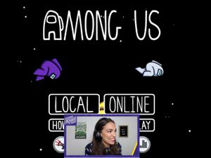 A screengrab of Alexandria Ocasio-Cortez's Twitch stream, where the Democratic politician played Among Us with other gamers