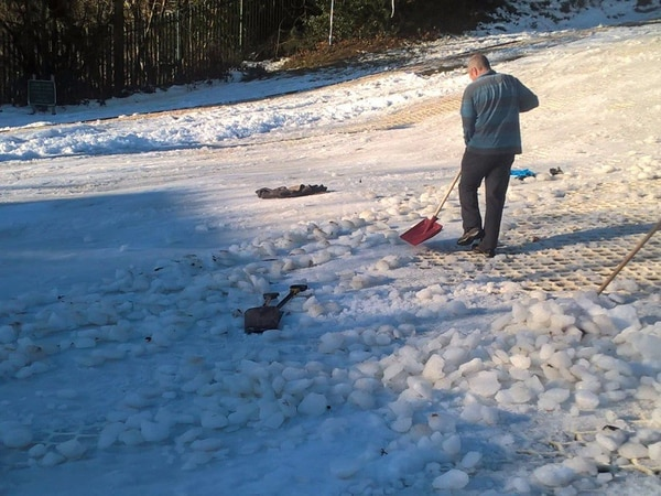 Telford ski centre closed . . . because of ice