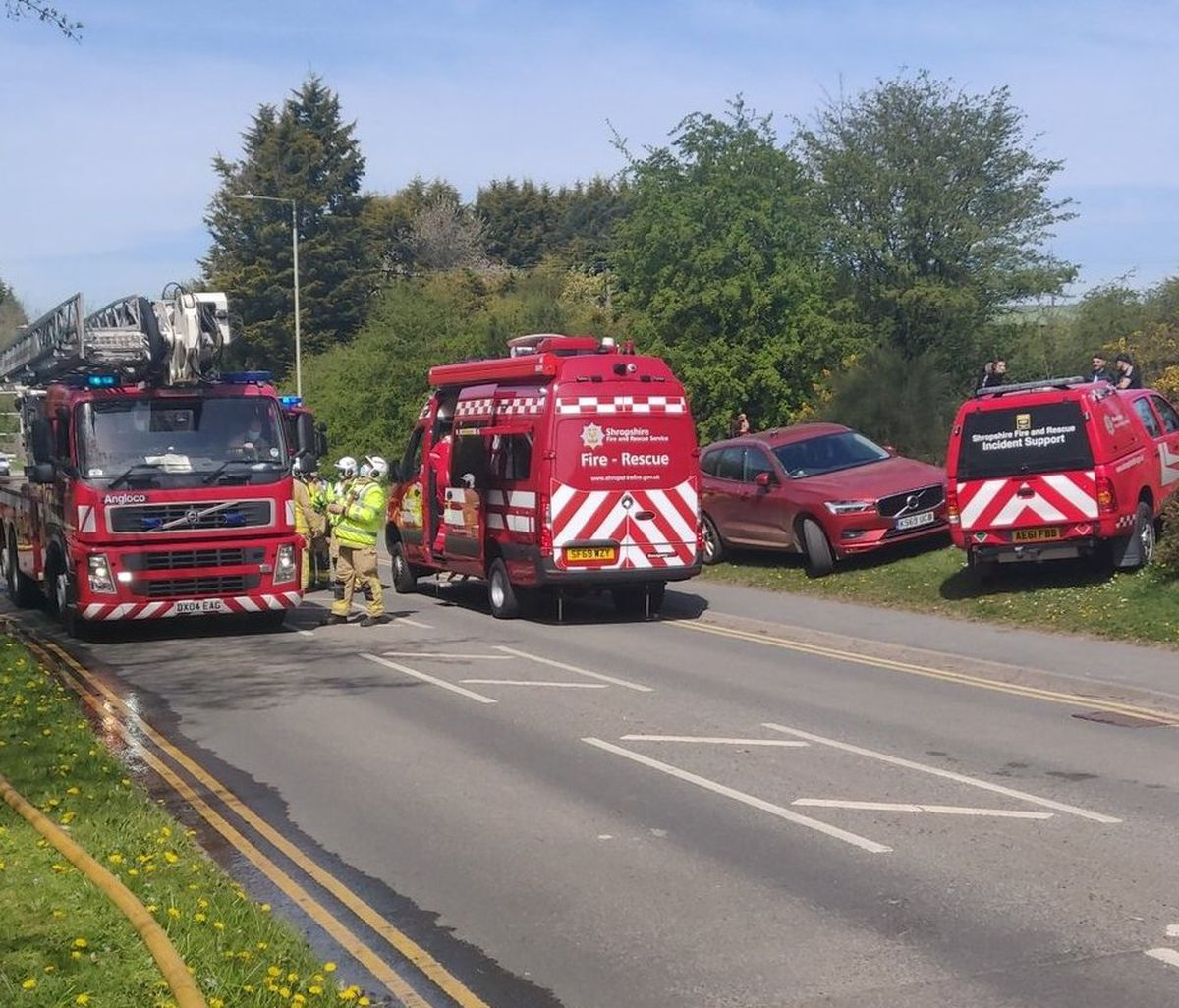 Emergency services called to the scene