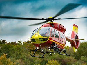 Air ambulance medics fly to aid of injured man in Shawbury