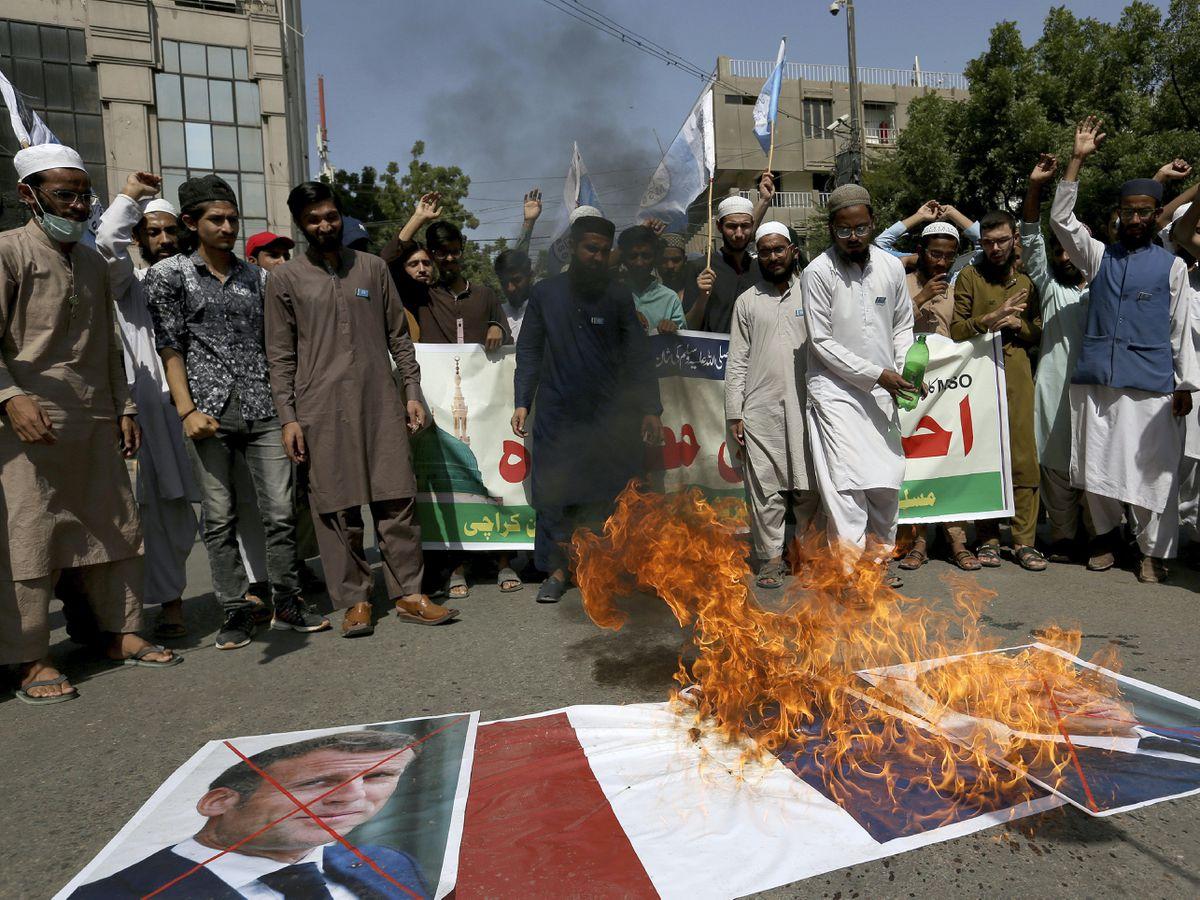 Pakistan France Protest
