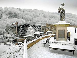 A picture postcard scene in Ironbridge on December 21, 2010.