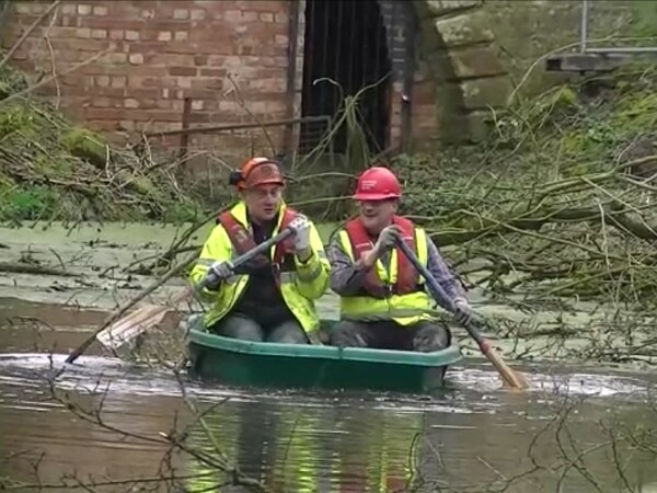 First boat on disused waterway near Shrewsbury in 70 years