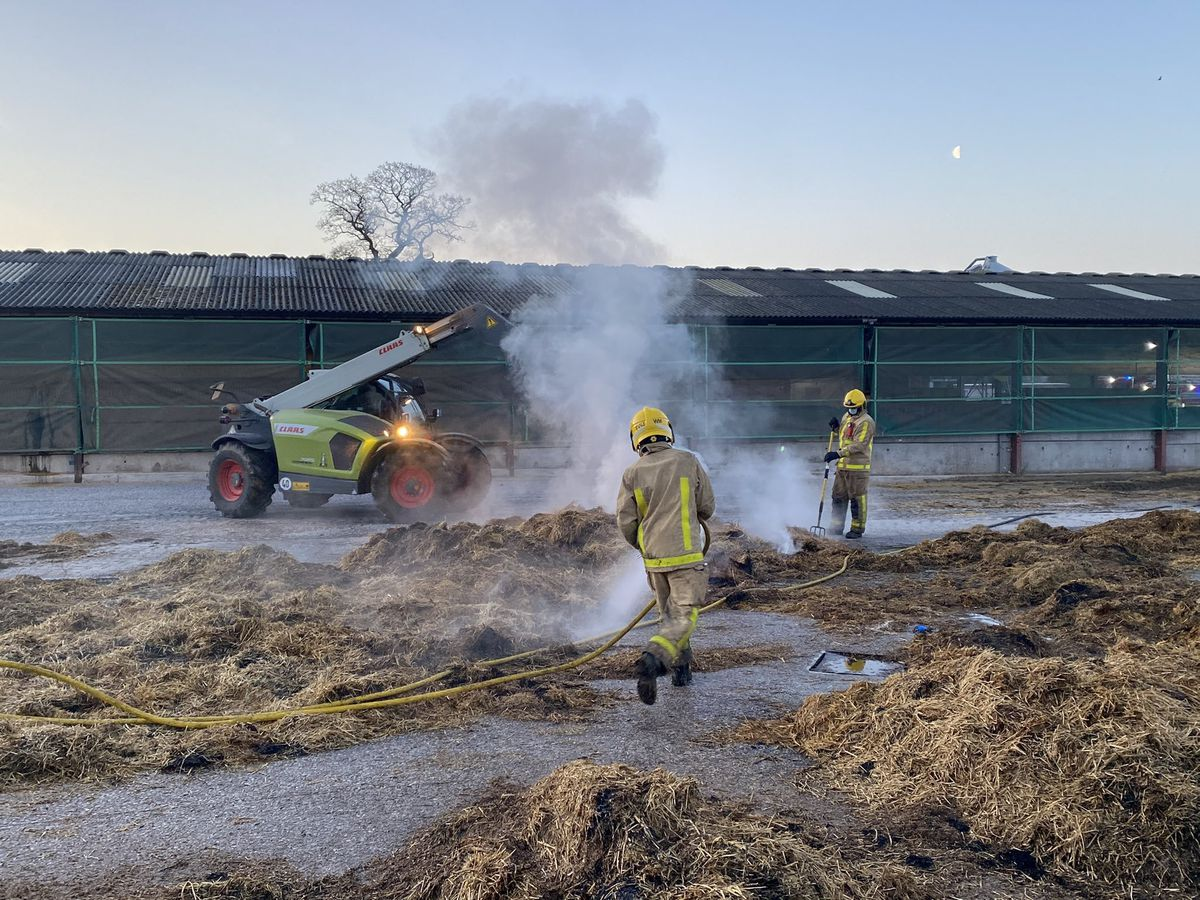 The scene of the fire. Photo: Shropshire Fire and Rescue Service station manager Jim Barker