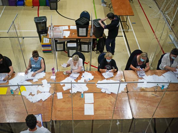 The count of votes in the Chesham and Amersham by-election