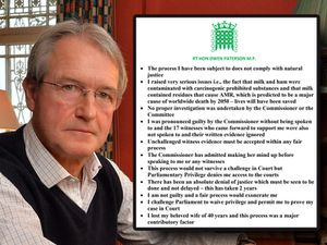 Owen Paterson issued a five-page response to the investigation, beginning with bullet points, inset