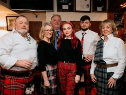 Burns supper celebrations at Bridgnorth Rugby Club - in pictures
