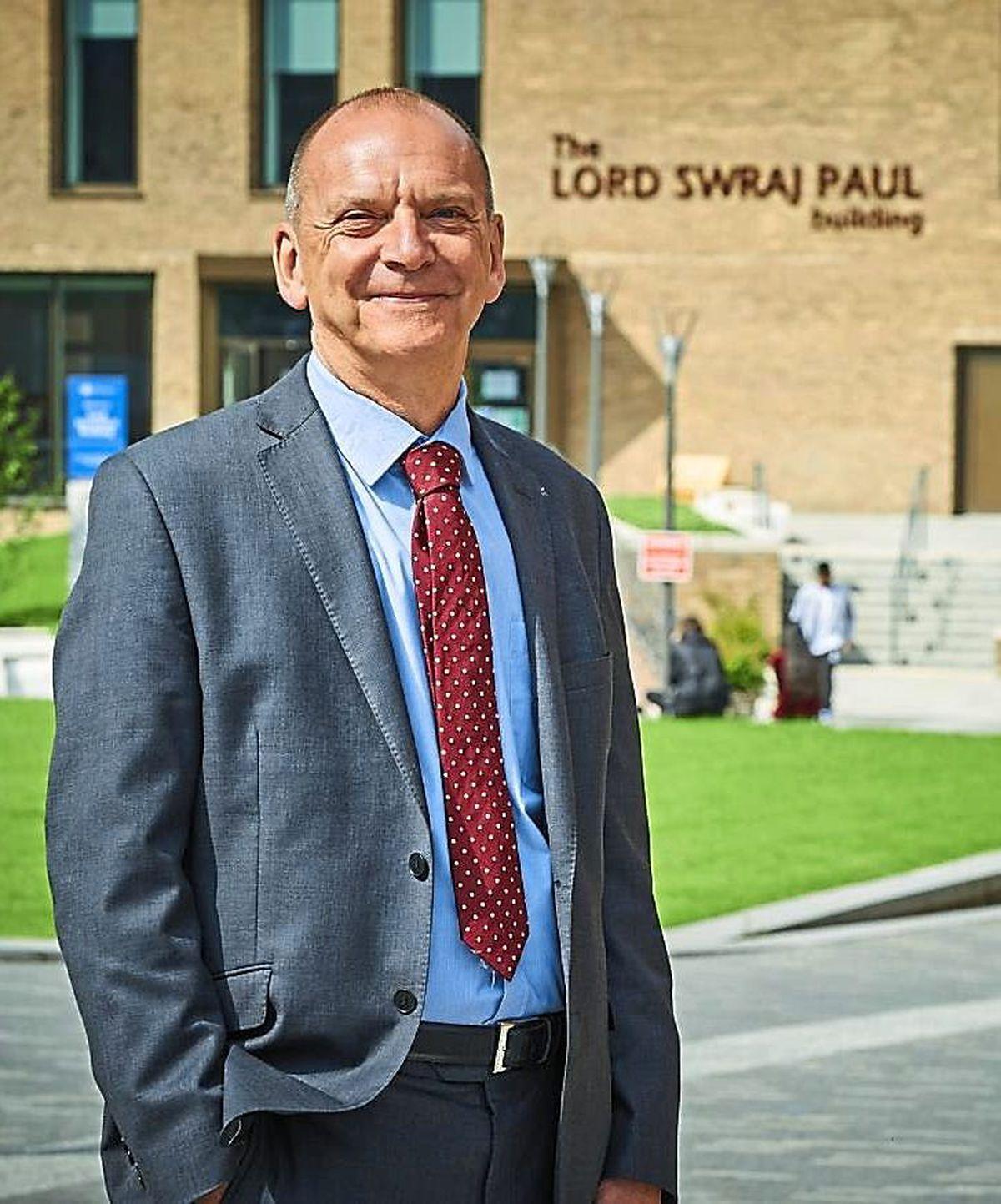 The University of Wolverhampton's vice-chancellor Professor Geoff Layer