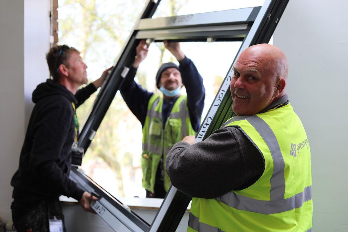The Grosvenor ApTec team at Telford College. From left, Richard Blakely, Steve Jones, and Neil Ulke