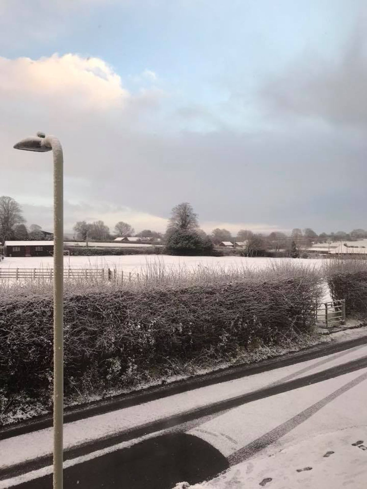 Michelle Higginson sent us this picture from Cheswardine
