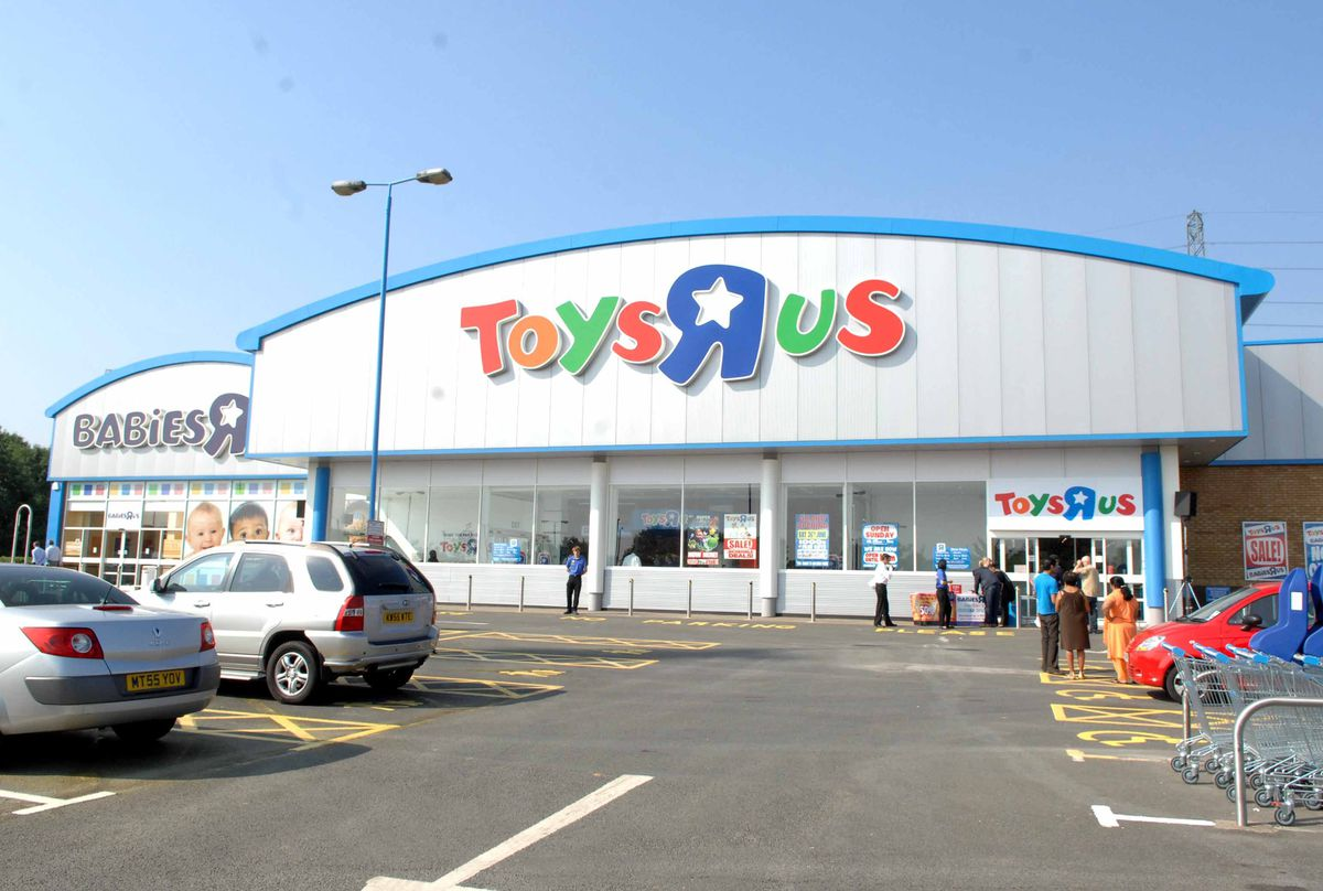 The Toys R Us store on Birchley Island in Oldbury. The company is mulling plans to axe 25 of its 100 UK stores.