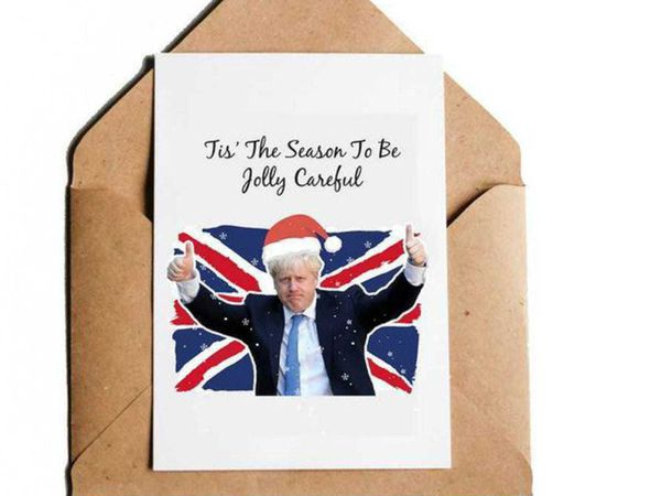 CaliPrintsbyHollie's Boris Johnson-inspired Christmas card