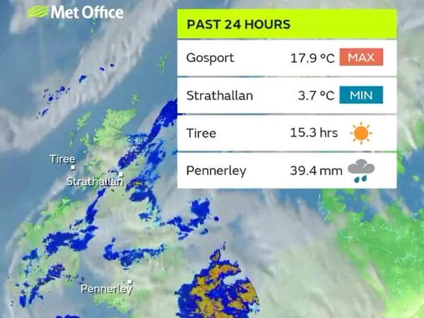 Shropshire village has most rainfall in the UK as THREE MONTHS of rain falls in a week